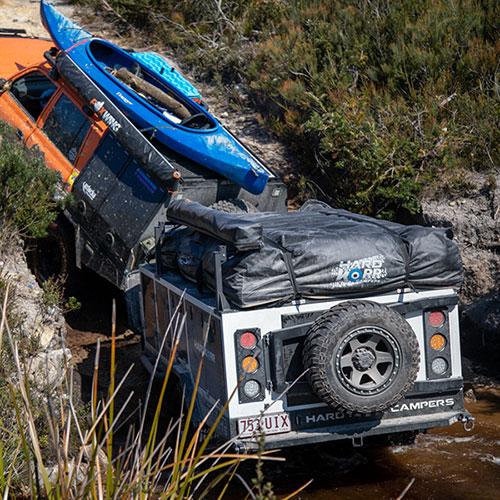 Hardkorr camper trailer being tested